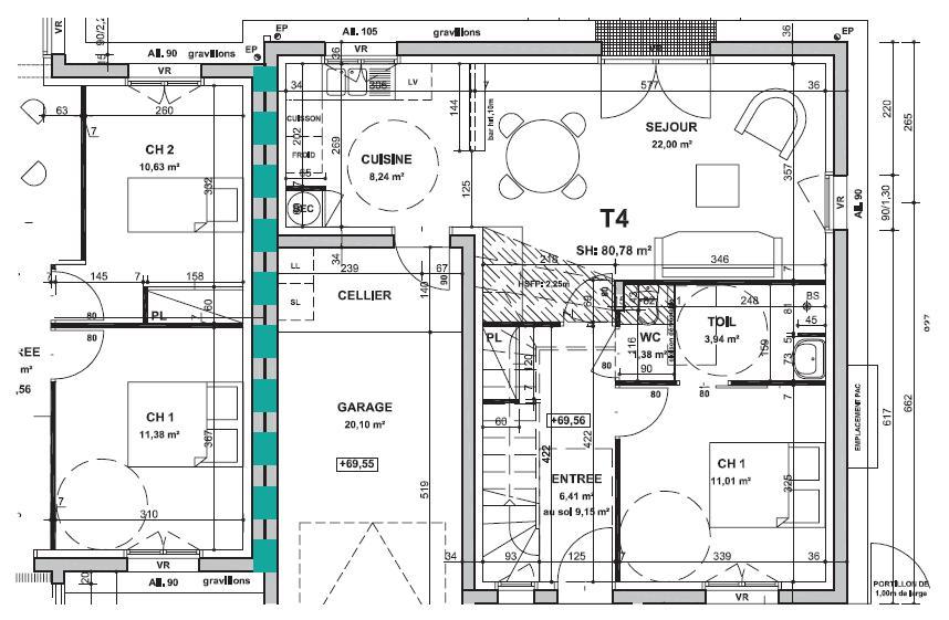 Plan de maison mitoyenne dcouverte jumele u003e projet - Plan de maison mitoyenne ...